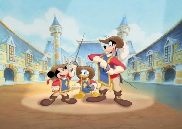 Sleduj online Animovaný, Dětem Tři mušketýři: Mickey, Donald a Goofy na !